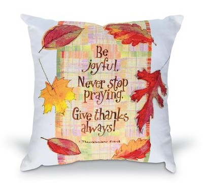 Give Thanks Pillow, 12 x 12  -     By: Robbin Rawlings
