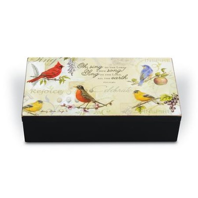 Songbirds, Wooden Trinket Box   -     By: Sandy Clough