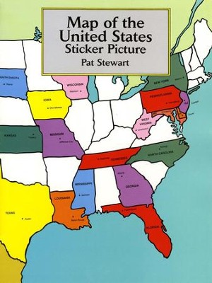 Map of the United States Sticker Picture   -     By: Pat Stewart