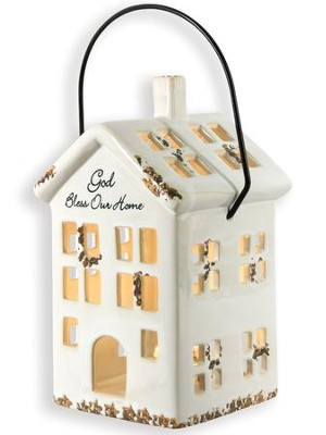 God Bless Our Home Tealight Lantern    -