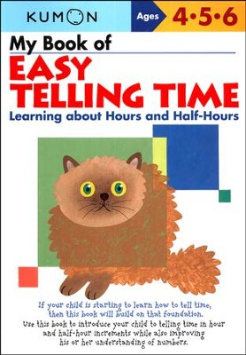 Kumon My Book of Easy Telling Time, Ages 4-6      -