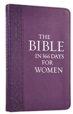 The Bible in 366 Days For Women, Purple Imitation Leather  -