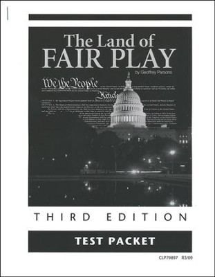 The Land of Fair Play, Third Edition Test Packet, Grade 8  (Remedial Grades 9-12)  -     By: Geoffrey Parsons
