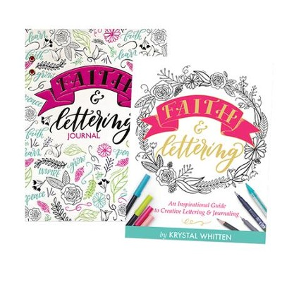 Faith & Lettering Set, book and journal  -     By: Krystal Whitten