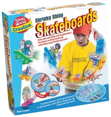 Shrinky Shiny Skateboards  -
