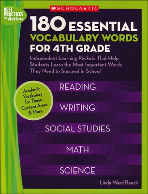 180 Essential Vocabulary Words for 4th Grade  -     By: Linda Ward Beech