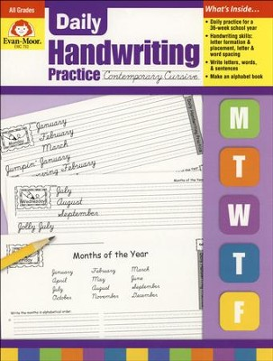 Daily Handwriting Practice: Contemporary Cursive   -