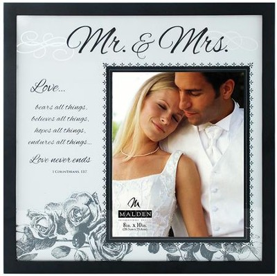 Mr. & Mrs. I Corinthians 13 Frosted Wedding Frame         -