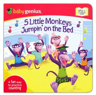 5 Little Monkeys Jumpin's on The Bed: A Sing 'N Count Book  -     By: Baby Genius