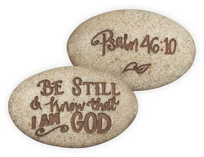 Psalm 46:10, Pocket Stone  -