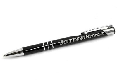 Bott Radio Metal Ringed Pen, Black   -