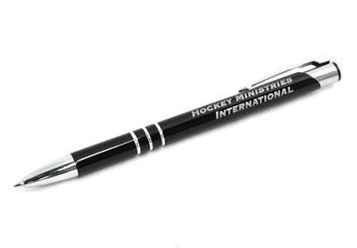 Hockey Ministries International Metal Ringed Pen, Black   -