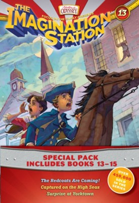 Imagination Station Books 3-Pack: The Redcoats are Coming! / Captured on the High Seas / Surprise at Yorktown  -     By: Focus on the Family