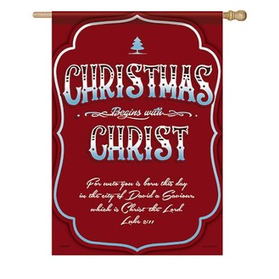Christmas Begins With Christ, Large Flag  -