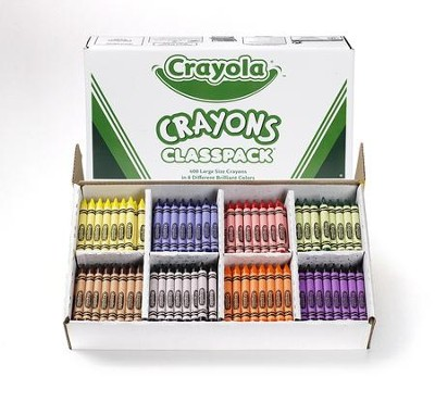 Crayola, Large Size Crayons, 8 Colors, 400 Pieces  -