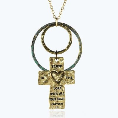 Trust In The Lord Cross Necklace  -