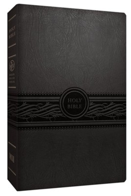MEV Personal-Size Large-Print Bible-Imitation Leather, Charcoal   -