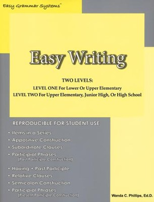 Easy Writing   -     By: Wanda Phillips