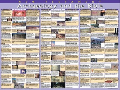 Archaeology & the Bible: New Testament, Laminated Wall Chart   -