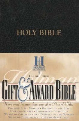 KJV Gift & Award Bible, Imitation leather, Black  , B&H Books  -