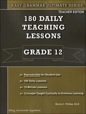 Easy Grammar Ultimate Series: 180 Daily Teaching Lessons, Grade 12 Teacher Text - Slightly Imperfect  -     By: Dr. Wanda C. Phillips