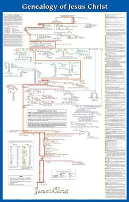Genealogy of jesus laminated wall chart 9789901983308