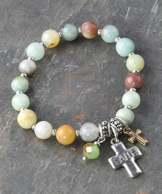 Cross/Faith Beaded Bracelet  -