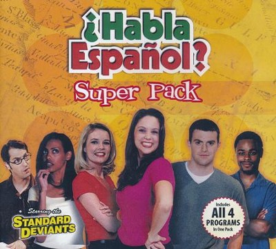 Super Spanish Pack (set of 4 DVDs)   -