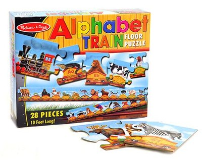 Alphabet Train Floor Puzzle   -     By: Melissa & Doug