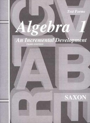 Saxon Algebra 1, Test Forms   -     By: Saxon