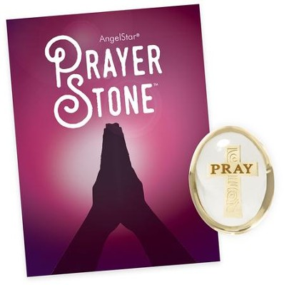 Pray, Square Cross, Prayer Stone  -
