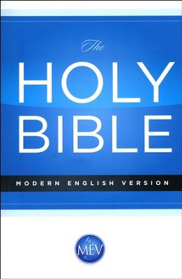 The Modern English Version (MEV) Economy Bible paper back  -