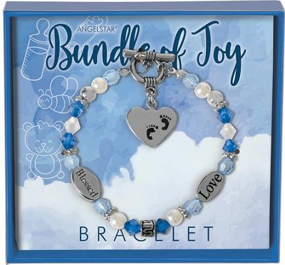 Bundle of Joy Charm Bracelet, Blue  -