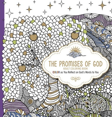 The Promises of God: Color as You Reflect on God's Words to You, adult coloring book  -