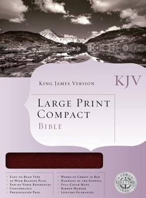 KJV Holman Large Print Compact Bible, Burgundy Bonded Leather  -