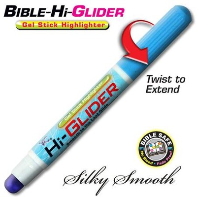 Bible Hi-Glider Gel Stick Marker, Blue   -