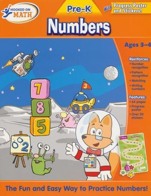 Hooked On Math: Pre-K Numbers Workbook   -