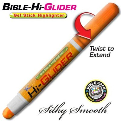 Bible Hi-Glider Gel Marker, Orange   -