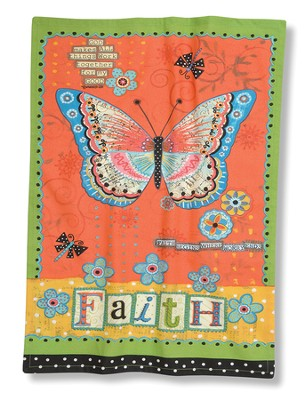 Faith Butterfly (Romans 8:28), Kitchen Towel  -     By: Annie LaPoint