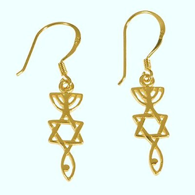 Roots Symbol Gold-plated Earrings   -