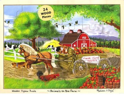 Animals on the Farm 24 Piece Jigsaw Puzzle   -     By: Melissa & Doug