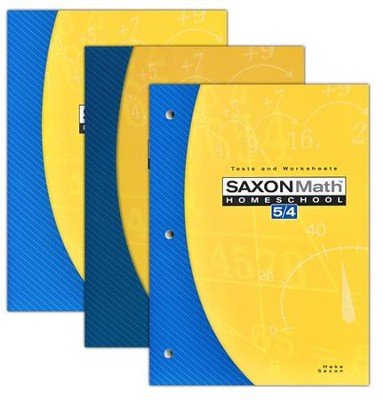 Saxon Math 5/4 Homeschool Kit, Third Edition   -