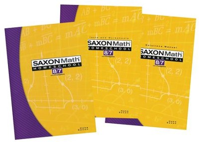 Saxon Math 8/7, 3rd Edition, Home Study Kit                    -