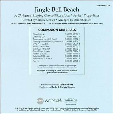 Jingle Bell Beach: A Christmas Singing Competition of Pitch Perfect Proportions Accompaniment CD (Split)  -     By: Christy Semsen, Daniel Semsen