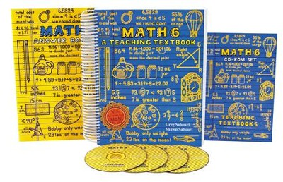 Teaching Textbooks Math 6 Complete Kit   -     By: Greg Sabouri, Shawn Sabouri