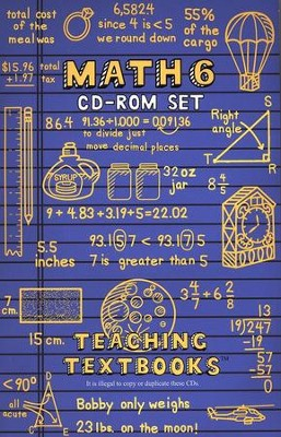 Teaching Textbooks Math 6 CD-Rom Set   -
