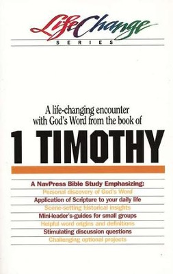 1 Timothy, LifeChange Bible Study   -
