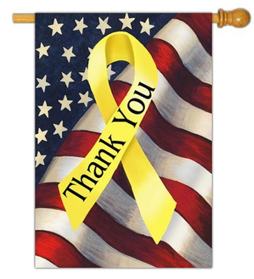 Thank You Troops Flag, Large  -