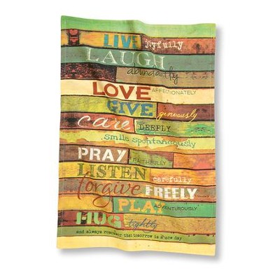 Live Joyfully, Kitchen Towel  -     By: Marla Rae