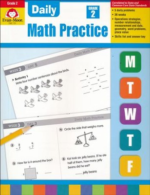 Daily Math Practice, Common Core Edition, Grade 2 Edition  -